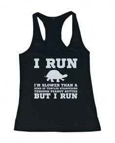 0d3aca1c35246b I m Slower than a Turtle Funny Workout Tank Top Gym sleeveless Shirt from 365  Printing Inc.