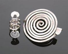 Ring & Brooch |  Alexander Calder.  Silver. ca 1940.