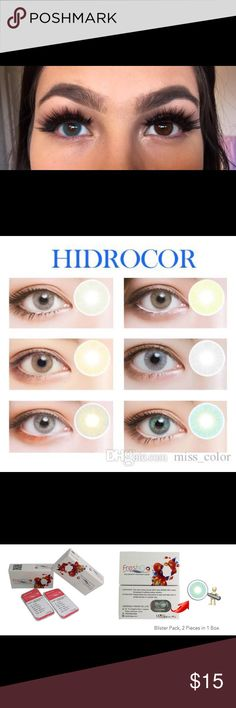 Hidrocor Big Eye Color Contact Lenses BLUE Brand new in box. 2 blister packages in box. Diameter: 14.50mm; base curve: 8.60mm; water content: 38% FreshGo by Lensgoo Makeup False Eyelashes