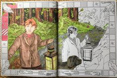But I Wanted To Work A Bit More On My Harry Potter Books This Is The Forbidden Forest From Chamber Of Secrets