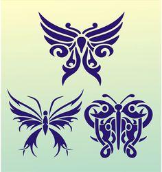 Butterfly Tattoo Stencil Design From Kingdom