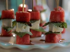 Watermelon and Feta Skewers recipe from Damaris Phillips via Food Network