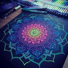 Progress  #mandala #gellyroll #gellyrollpen Mandala Artwork, Mandala Drawing, Mandala Tapestry, Dibujos Zentangle Art, Zentangles, What Is A Mandala, Gel Pen Art, Black Paper Drawing, Realistic Pencil Drawings