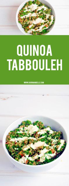 This quinoa tabbouleh recipe is for those of you who want a high protein healthy meal with delicious flavors! It's ready in no time and it's so much better than bulgur wheat tabbouleh! #quinoa #salad