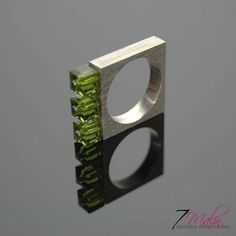 NEW QUADRO - SILVER RING WITH SWAROVSKI CRYSTALS