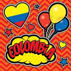 Colombia Independence Day, Colombian Art, Visit Colombia, Christmas Tree Decorations, South America, Photo Booth, Unity, Pop Art, Country