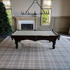 Finished Installing This 12 X 15 Foot Area Rug In Newport Coast California.  We Moves The Pool Table Outside The Doorway Place The Rug Move The Pool  Table ...