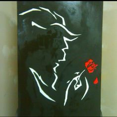 Beauty and the Beast painting done for me as a gift.