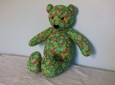 Kermit Frog Teddy Bear Cuddle Buddy Green Goodness Child by DoOver, $35.00