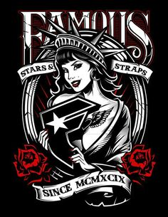T-SHIRT TATTOO INK SKATE BIKER   Famous S BIG BOH FAMOUS STARS AND STRAPS FSAS