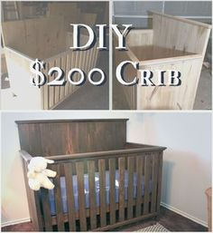 """If you read my """"Expecting Caleb"""" post, you know I agonized over the crib and coveted cribs from Pottery Barn and Restoration Hardware. I really wanted that giant back board look that has such a strong presence. Thankfully though, I started to ponder how hard could it be to build your own crib? Not that …"""