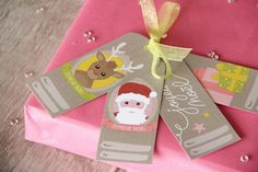 Étiquettes cadeaux de Noël à imprimer