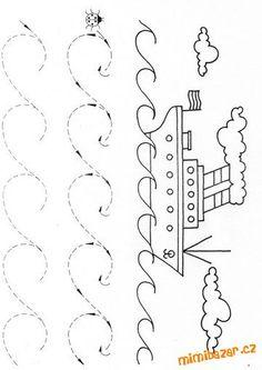 AKTIVITY S DĚTMI - Pro předškoláčky - pracovní listy pro děti - pro zahnání dlouhé chvíle Kindergarten Games, Preschool Writing, Preschool Learning Activities, Arabic Alphabet For Kids, Diy Crafts For Kids Easy, Kids Math Worksheets, Math For Kids, Kindergarten Worksheets, Early Education