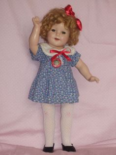 """1930's Composition 18"""" Shirley Temple Doll - in Blue Loop Dress from animalcrackers on Ruby Lane"""
