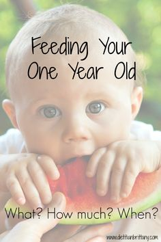 Wondering what and how much to feed your one year old? This guide lets you know how to transition to more solid foods in your child's diet.