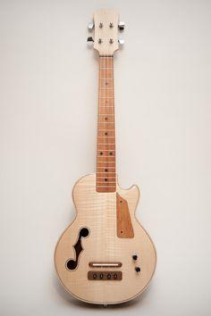 Les Paul style Tenor ukulele Natural wood by celentanowoodworks, $900.00
