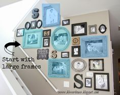 The Most Efficient Way to Create a Gallery Wall -  What to hang first!!!  Hanging order and good ideas for layout!