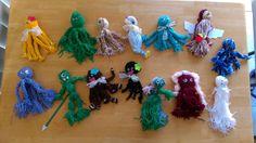 #SPRINGHOLIDAYART 2015 Yarn Character Creations Character Creation, Crochet Necklace, Create, Spring, Artwork, Kids, Young Children, Work Of Art, Boys