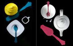 Straight from #Paris, #France: Nouvelle Old Fashioned Tart Servers & Teaspoons by Sabre