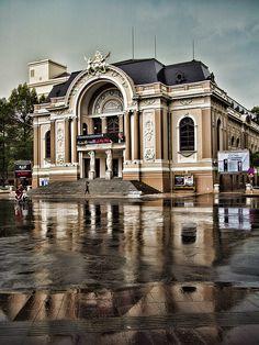 Rain Reflections ~ Saigon Opera House, Vietnam