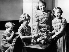 Four princesses of the Netherlands.  Beatrix, Irene, Margriet and Cristina.