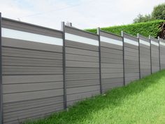 wood  plastic fence panel design for backyard, composite fence grey color for pool