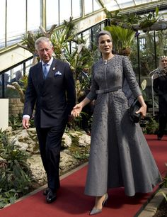 The Prince Of Wales Meets Her Highness Sheikha Mozah Bint Nasser Al Missned