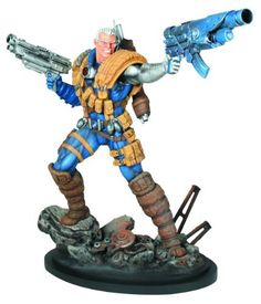 """Bowen Designs Cable Painted Statue (Classic Version) by Bowen Designs. $230.00. Sculpted by the Kucharek Brothers. Ready to display. Strictly limited. Statue stands over 12"""" tall. From the X-Men. From the Manufacturer                A Bowen Designs Sculpt. Born in the present, raised in the future, the cybernetic mutant Nathan Summers is best known as Cable, the former leader of X-Force and protector of Hope. Based on his original appearance in the pages of New Mutant..."""