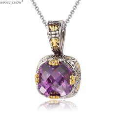 2017  Fashion Jewelry 4 dragon claw Purple Quartz Stone 925 Sterling Silver Pendant for women cocktail prom Accessories P0426