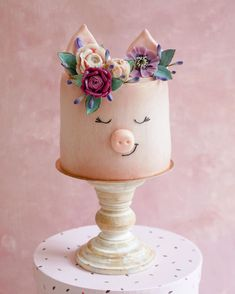 Pretty Cakes, Beautiful Cakes, Amazing Cakes, Piggy Cake, Animal Cakes, Dream Cake, Just Cakes, Cake Decorating Techniques, Fancy Cakes