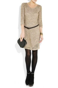 Day Birger et Mikkelsen | Sequined tulle and jersey dress