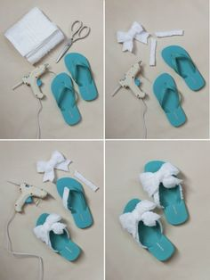 38c3fb34264a4 DIY spa theme party sandal step by step picture tutorial! Genius love this  for the girls to wear during the party!