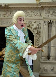 Fribble Git! The ever-frightful Mr. Fribble played by Mathew Butler in MISS IN HER TEENS, the movie adaptation of David Garrick's play Miss in Her Teens; or The Medley of Lovers, 1747.