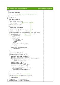 Zend Framework Coding Standards