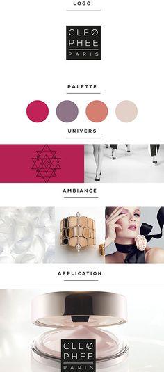 #Logotype, #branding # Packaging  Plateforme de marque pour la marque Cleophée, cosmetique de luxe. Palette, Eyeshadow, Branding, Packaging, Luxury Cosmetics, Eye Shadow, Brand Management, Pallets, Eye Shadows