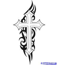 90s tribal cross