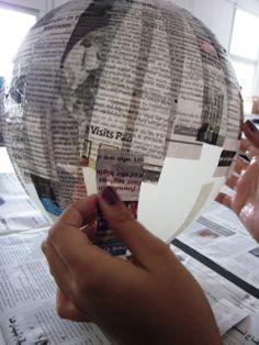 Paper Mache Paste on the Balloon