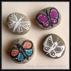 Butterfly Painted Stones