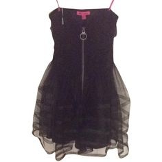 Pre-owned Betsey Johnson Prom Dress ($141) ❤ liked on Polyvore featuring women's fashion, dresses, black, form fitting prom dresses, cocktail prom dress, strapless dress, prom dresses and form fitting dresses