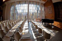 Cedar Lane Unitarian Universalist Church sanctuary set-up