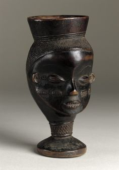 Cup Africa, Democratic Republic of the Congo, Wongo peoples, 20th century Furnishings; Serviceware Wood Height: 6 3/4 in. (17.15 cm) Gift of Lee and Bob Bronson (AC1994.203.14) African Art