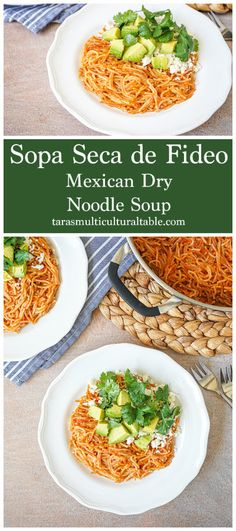 Sopa Seca de Fideo (Mexican Dry Noodle Soup)- Tara's Multicultural Table- Toasted noodles are simmered in a chipotle-tomato sauce until tender for a quick and flavorful meal.