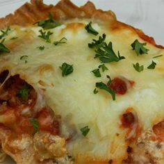 Healthier World's Best Lasagna....   Easy swaps like ground turkey and low-fat cheese lessen the calories in this popular dish.  Allrecipes.com
