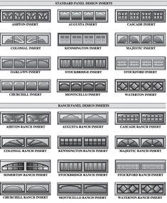 Clopay Window Insert Short Panel Colonial 4 Piece Set 18
