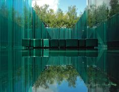 Les Cols Pavellons is set in Olot, close the Garrotxa Volcanic Nature Reserve. Japanese Spa, Unusual Hotels, Barcelona, Glass Floor, Landscape Plans, Luxury Accommodation, Glass House, Ramones, Glass Design