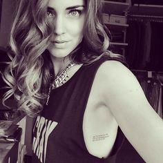 Chiara Ferragni - The Blond Salad - rib tattoo