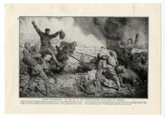 Hand to Hand fighting in the WW1 trenches of Combles, on the Somme, Picardie, France