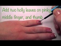 Holly & Candy Cane Nail Art - Short Nails