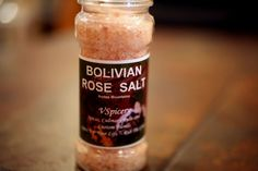 Bolivian Rose Salt is hand harvested from the Andes Mountains in Bolivia. Ancient sea salt deposits were covered with volcanic lava creating a high mineral salt and protecting it from pollution. Savor a unique and pleasant flavor while roasting or grilling meats. Great for Prime Rib and Pork Loin.