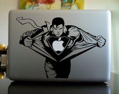 Apple Macbook Vinyl Decal Sticker – Superman | I OWL YOU via iowlu.com